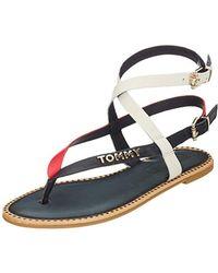 bb7da1266 Tommy Hilfiger 990 Sandal Eyelets Women s Sandals In Black in Black ...