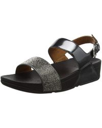 f5f4f21176c Fitflop  s Ritzy Back-strap Sandals Open Toe in Black - Lyst
