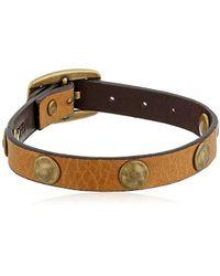 "Frye - Unisex Stud Soft Vintage Leather Wrap Cuff Bracelet, 13.25"" + 4.5"" Extender - Lyst"