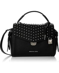 a635920f98880 Michael Kors Lenox Messenger Bag in Black - Lyst