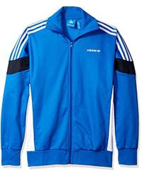 72d70cb7d530 Lyst - Adidas Originals Clr-84 Woven Nylon Track Jacket in Green for Men