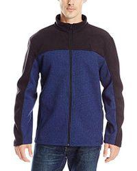 Izod - Performance Shaker Fleece Jacket - Lyst