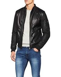 Guess - Herren Sportjacke Giubbotti Mesh-up Eco Leather - Lyst