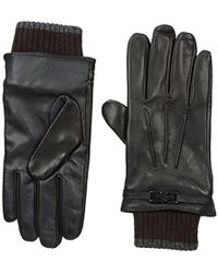 Ted Baker - Quiff Ribbed Cuff Leather Glove - Lyst