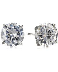 "Cole Haan - ""cz Basics"" Logo Gallery Set Stud Earrings - Lyst"