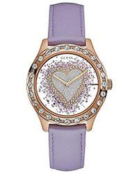 d2c63f21948d Guess - Reloj Analogico para Mujer de Cuarzo con Correa en Cuero W0909L3 -  Lyst