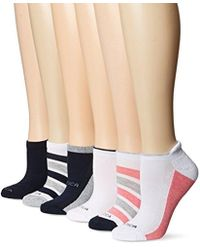 Nautica - Wave Colorblock Half Cushion No Show 6 Pair Pack Socks - Lyst