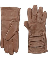 Adrienne Vittadini - Leather Gloves With 100 Percent Cashmere Lining - Lyst
