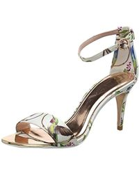 81a63ca2c5e Ted Baker Peyepa Block Heel Sandals in Metallic - Lyst