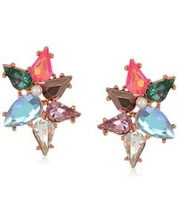 Betsey Johnson - Colorful Stone Clusters Stud Earrings, Multi - Lyst