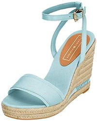 71025cc2fc1 Tommy Hilfiger - Iconic Elena Tommy Pastel Platform Sandals - Lyst