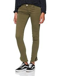 True Religion - Halle Dyed Long Olive Skinny Jeans - Lyst