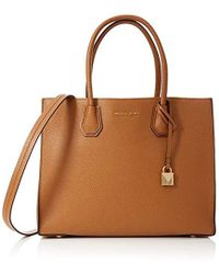 b7e2e9a17b25 Michael Kors - Mercer Large Tote, 's Brown (acorn), 13.97x24