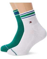 2d973e4f5 Tommy Hilfiger - Th Iconic Sports Quarter Socks (pack Of 2) - Lyst