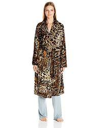 Ellen Tracy - Long Baby Fleece Komono Wrap Robe - Lyst