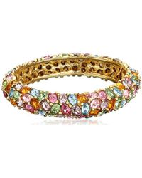 Kenneth Jay Lane - Gold And Multi-color Faceted Oval Stones Bracelet - Lyst