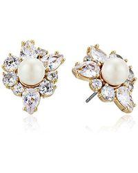 Kate Spade - Flying Colors Pearl Cluster Stud Earrings - Lyst