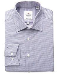 Ben Sherman - Multi Texture Spread Collar Dress Shirt - Lyst