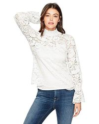 Adrianna Papell - Stretch Lace Smocked Neck And Sleeve - Lyst