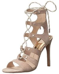 Lyst - Vince Camuto Narrital Lace-Up Gladiator Sandals in Red 8b6c6c821