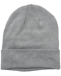 True Religion - Acid Washed Flat Knit Watchcap - Lyst
