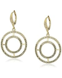 Judith Jack - Sterling Silver/swarovski Marcasite Gold-tone Large Drop Earrings - Lyst