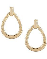 Napier - Gold-tone Doorknocker Stud Earrings - Lyst