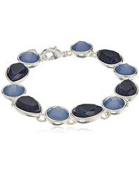 """Nine West - Color Me Bright Silver-tone Flex Tennis Bracelet, 7.25"""" - Lyst"""
