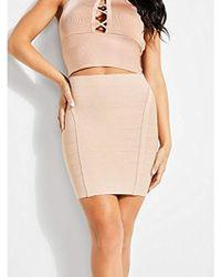 Guess - Ottoman Stitch Mirage Skirt - Lyst