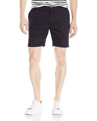 Scotch & Soda - Formal Chino Short In Cotton/elastane Quality With All-over - Lyst
