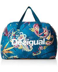 Desigual - 19WQXW16, sac bandoulière femme Bleu (5049 )49x34x26 cm (B x H x T) - Lyst