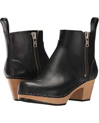 Swedish Hasbeens - Zip It Emy Ankle Boot - Lyst