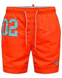 Superdry Water Polo Swim Short Pantalones Cortos para Hombre - Naranja