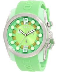 Izod - Izs2/5 Green/yellow Sport Quartz Chronograph Watch - Lyst