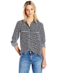 PARIS SUNDAY - Long Sleeve Shirt With Piping - Lyst
