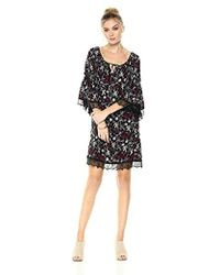 Ella Moon - Adriel Long-sleeve Lace Trim Dress - Lyst