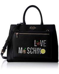 Love Moschino Borsa Pu Top-handle Bag - Black