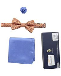 U.S. POLO ASSN. - Neat Print Bow Tie, Pocket Square And Lapel Pin Set - Lyst