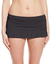 Kenneth Cole Reaction - Ruffle Shuffle Skirted Bikini Bottom - Lyst