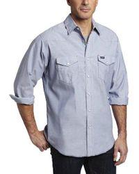 Wrangler - Authentic Cowboy Cut Work Western Long Sleeve Shirt - Lyst
