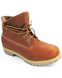 cfde67c3f98663 Timberland Tpu Roll Top Ff Af Wheat Men's Mid Boots In Multicolour for Men  - Lyst