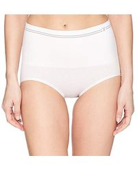 2f786324bc8d7 Lyst - Yummie Cotton Seamless Shapewear Short in White