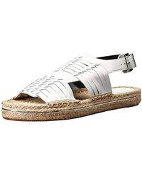 152bbe71910b Lyst - Rebecca Minkoff Gabriel Huarache Leather Espadrille Sandals ...