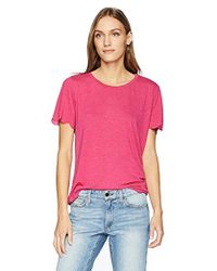 Michael Stars - Brixton Jersey Crew Neck Scalloped Edge Tee - Lyst