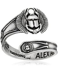 ALEX AND ANI - S Spoon Ring Scarab - Lyst
