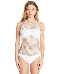 Kenneth Cole - Wrapped In Love Monokini One Piece Swimsuit - Lyst