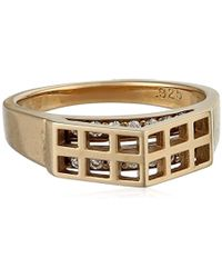 Campbell - Gold-vermeil Greenhouse Ring - Lyst