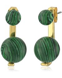 Noir Jewelry - Sphere Semi-precious Earrings With Jackets - Lyst