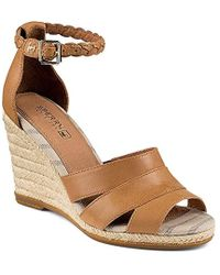 a9cd584ca Lyst - Sperry Top-Sider Dawn Ari Platform Wedge Sandals in Brown