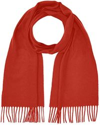 GANT - Solid Lambswool Scarf - Lyst